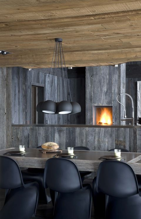 ? Masculine Interior Dining Room Interior Design In The French Alps Photography By Serge Anton