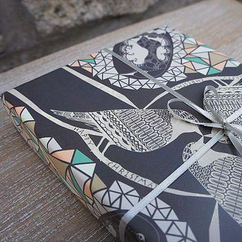 Winter Birds Gift Wrap Parcel