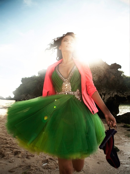 green tulle