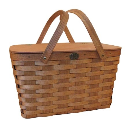 Handcrafted Picnic Basket.