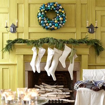 Simple garland made with fresh evergreen branches