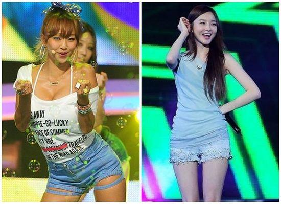 Korean fashion, destroyed shorts