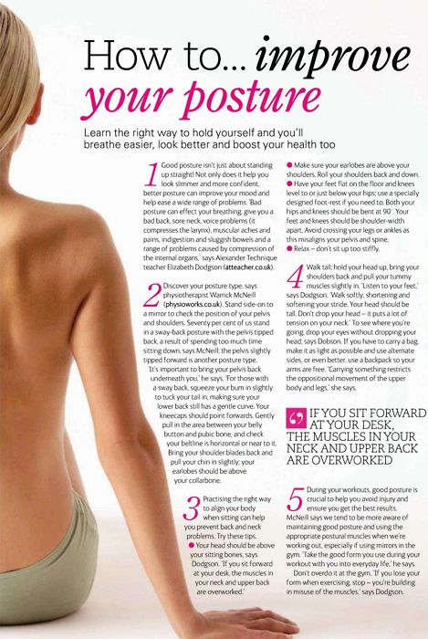 healthydreams:  Good posture helps burn calories and strengthens your back muscles!  I feel like I reblogged this before. Oh well!
