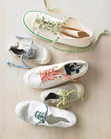 How to Make Braided Shoelaces by Martha Stewart tinyurl.com/... #Braided_Shoelaces #Crafts #Martha_Stewart
