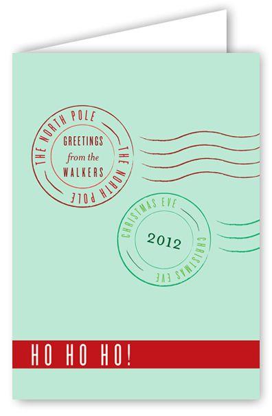 North Pole Greetings Greeting Card