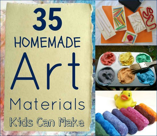 35 homemade art materials for the kiddos