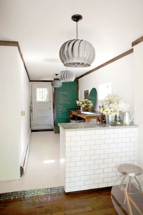 Very cool upcycling! Love the repurposed exhaust fans and white subway #modern bathroom design #bathroom design ideas #bathroom designs #bathroom decorating #bathroom decorating before and after