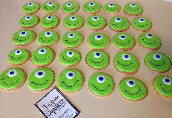 Mike Wazowski Decorated Cookies