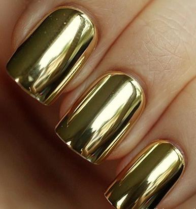 how rad. #gold manicure