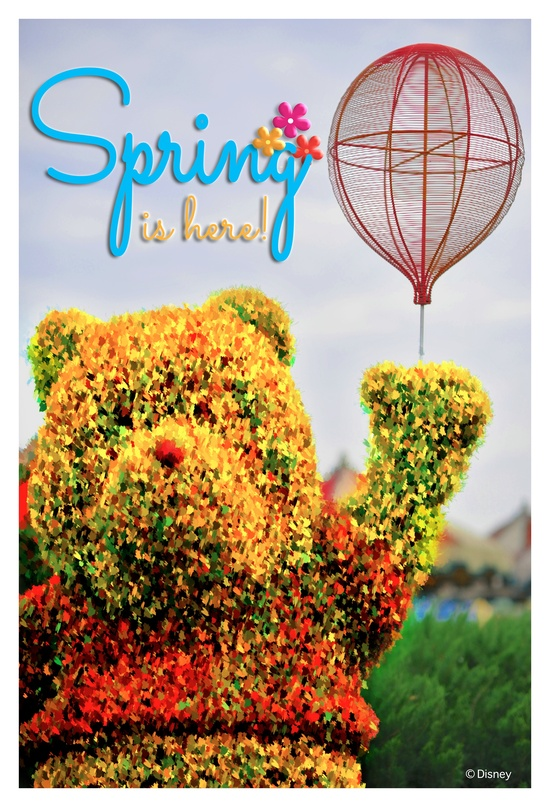 Think, Think,Think…Why am I so happy?  OH!  Spring is taking over Walt Disney World!  - di.sn/q2p