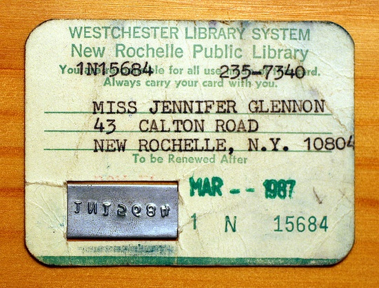 70s-80s library card...I had one like this.