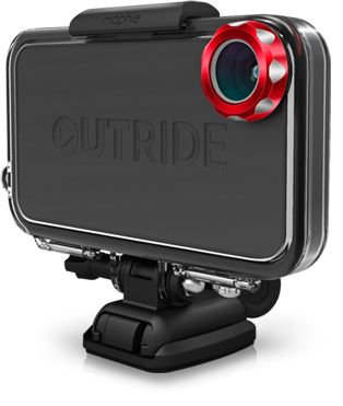 OUTRIDE is a hardware and application solution that puts the power to record and share tricks, tracks, rides and epic moments in the hands of action land and water sports enthusiasts, using only their iPhone.