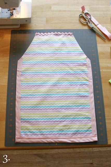 easy kid's apron tutorial!