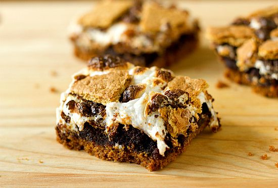 S'mores Brownies #recipe #dessert #chocolate #marshmallow