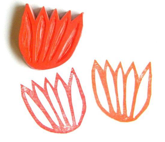 Tulip blossom stamp