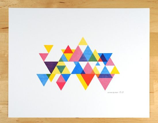Process Color Triangle Print by desTroy
