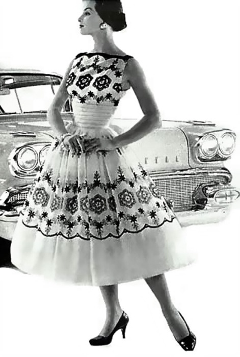 Amazing dress, 1950's @Raquel Marie we need this dress