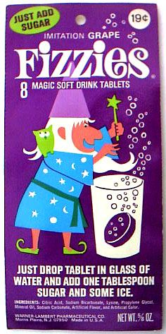 Vintage Candy: 1960s Grape Fizzies - Magic Soft Drink Tablets.