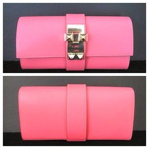 Medor Clutch Size: 23cm Color: Rose Lipstick Hardware Gold