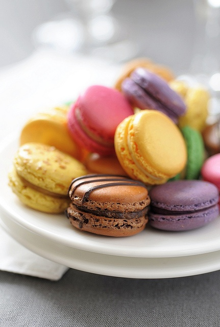 A pastel rainbow of macaron merriment! :) #rainbow #pastel #spring #Easter #macarons #food #cooking #baking #cookies #dessert #French #pastry