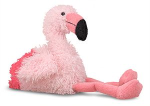 Scarlet Pink Flamingo Stuffed Animal