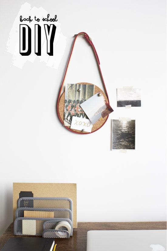 DIY - cork board + belt