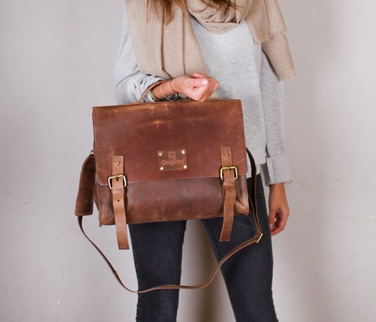 Dirty Harry Leather Bag-Indian Brown