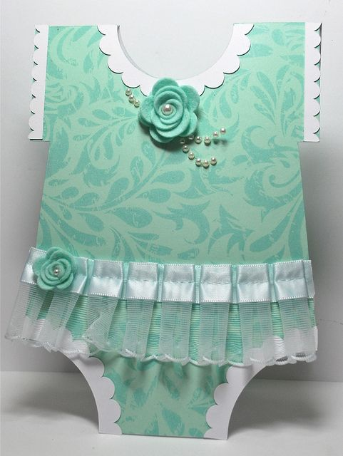 Baby Girl Card.... by Kelly Booth, via Flickr