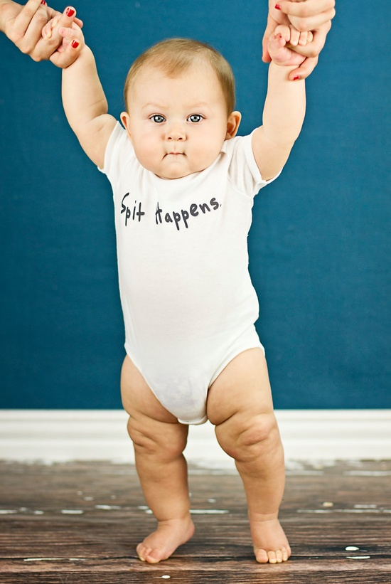 Spit Happens - Funny Baby Onesie - Toddler Tee also available