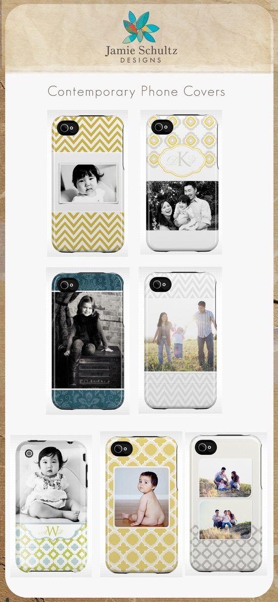 Contemporary iPhone Covers by Jamie Schultz Designs