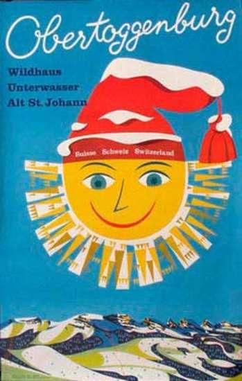 #Vintage Ski Poster. Obertoggenburg Date- ca 1960s