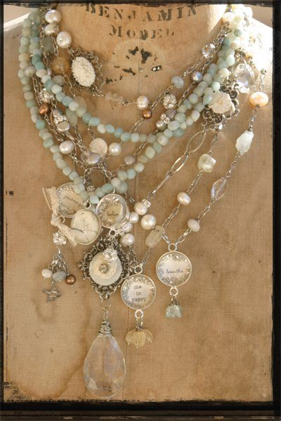 vintage inspired jewelry necklace and charms