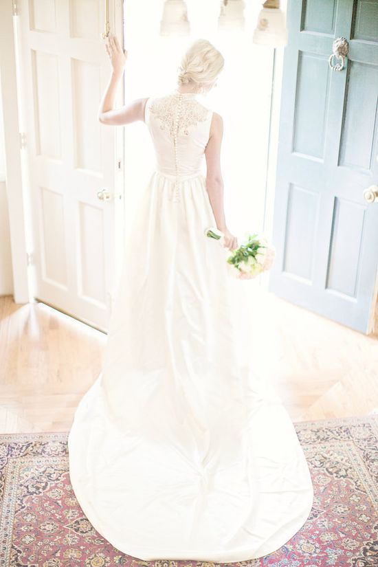 Wedding dress turned family heirloom passed down through the generations and worn by this Bride on her big day  Photography By / glassjarphotograp...