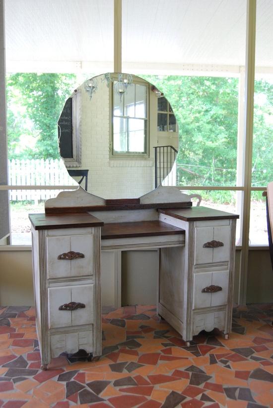 Vintage Painted Vanity. $650.00, via Etsy.