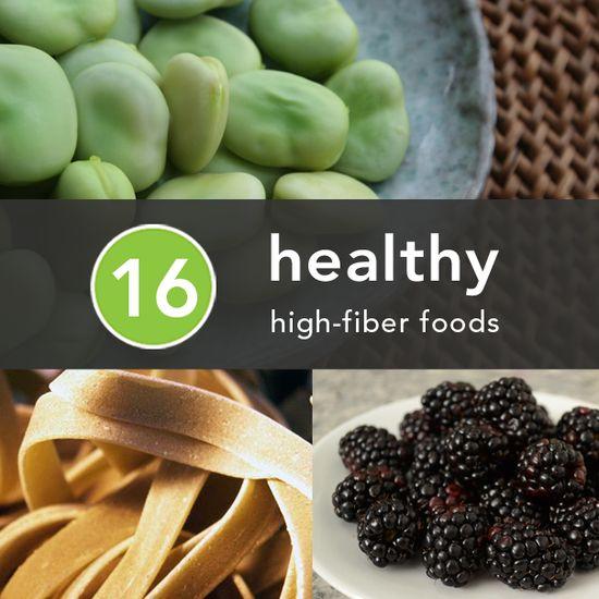 16 Healthy High-Fiber Foods