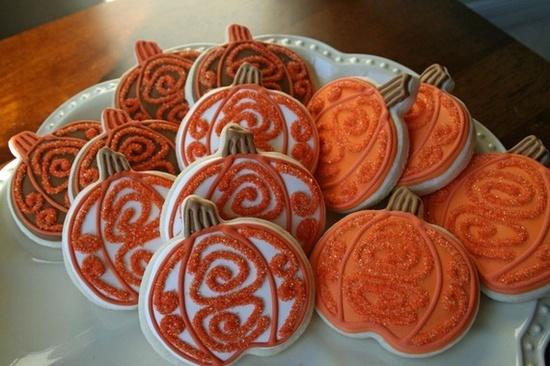 Pumpkin sugar cookies - love this