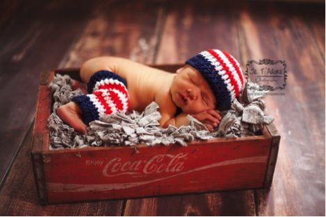 Free Patriotic Crochet Pattern for Baby! ~ at TheFrugalGirls.com ~ SO cute!!! #baby #crochet #patterns