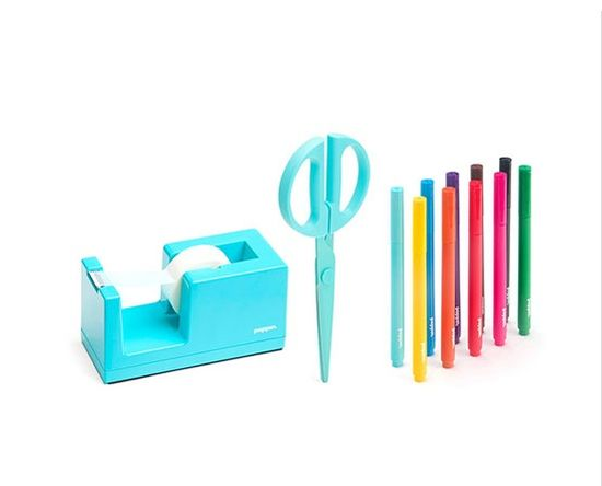 Colorful gift wrapping tools.