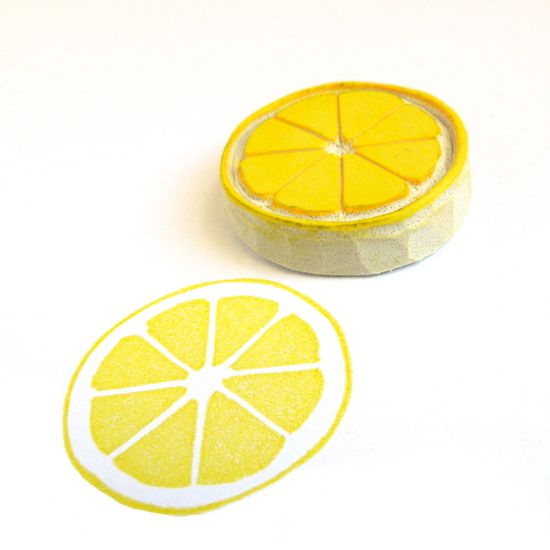 Lemon Citrus Circle Stamp // Creatiate