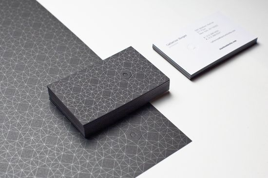 beautiful patterned business cards