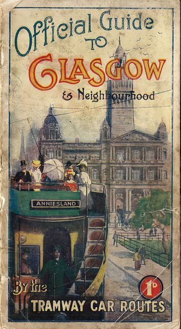 Official Guide to Glasgow & Neighbourhood #vintage #travel #poster #UK