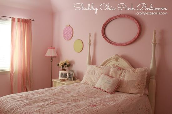 Pretty in Pink: Shabby Chic Bedroom on C - ... - #home decor #design #home decor ideas #living room #bedroom #kitchen #bathroom #interior ideas