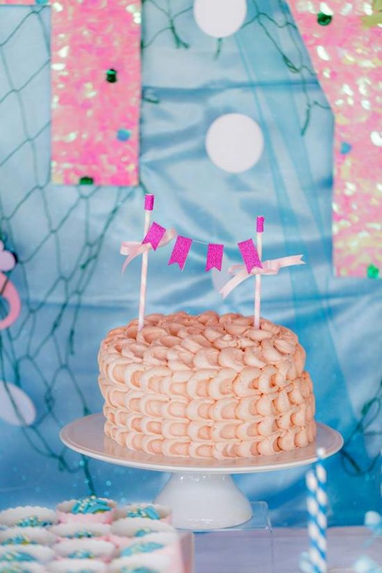 Cake at a Bubble Guppies Under The Sea Party with Such Cute Ideas via Kara's Party Ideas