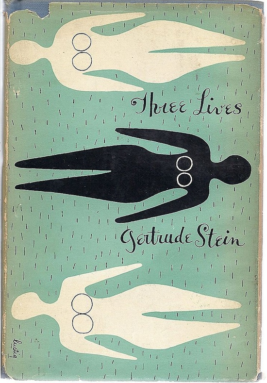 Original Cover Art by Alvin Lustig, Three Lives By Gertrude Stein