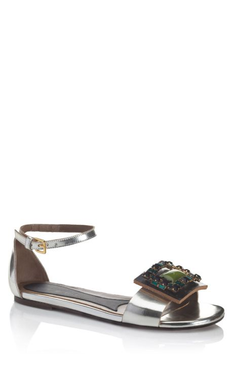 Shop Marni Bejeweled Mary Jane Sandal at Moda Operandi