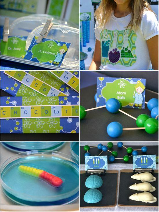 Bird's Party Blog: Mad Scientist Birthday Party!