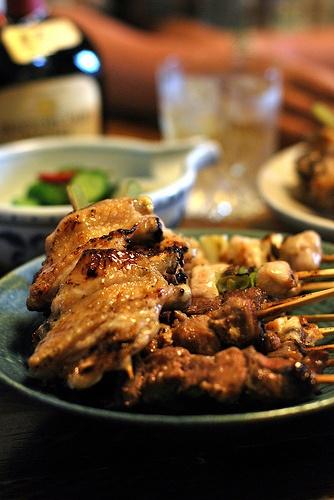 Japanese food -yakitori- : photo by [puamelia], via Flickr