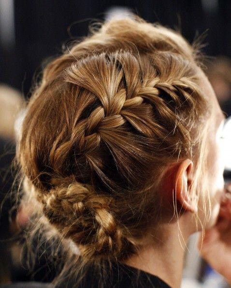 pretty braided updo #hair