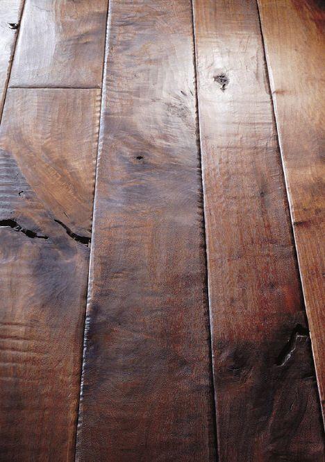 Walnut plank floor