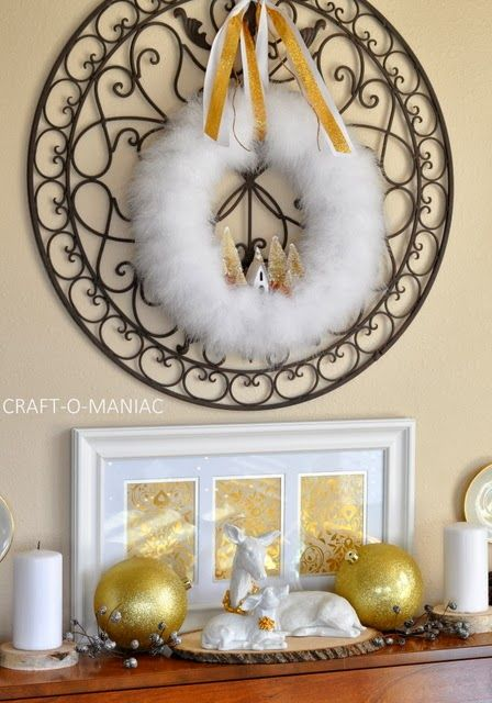 Gold Silver & White Christmas Decor